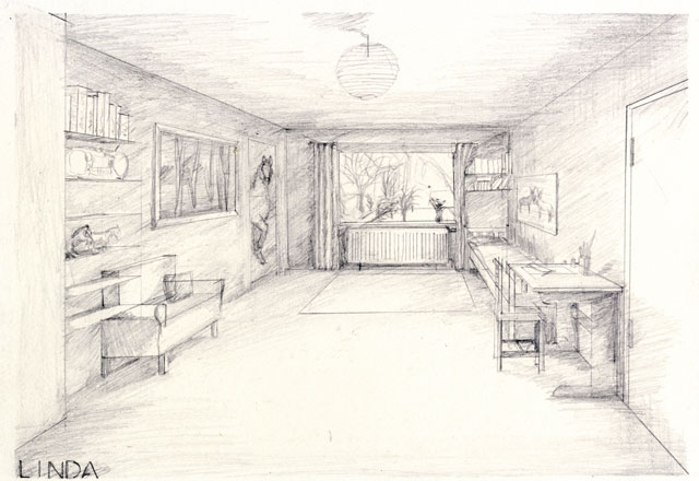 Grundriss zeichnen kunstunterricht for Raumgestaltung zeichnen